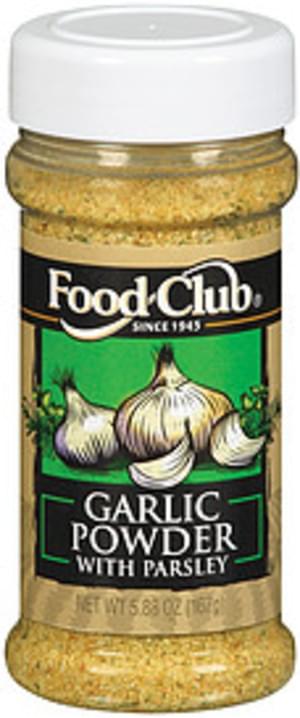 Food Club W/Parsley Garlic Powder - 5 88 oz, Nutrition