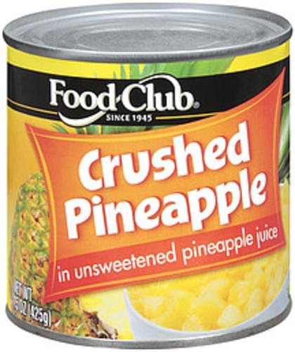 Food Club In Unsweetened Pineapple Juice Pineapple Crushed - 15 oz