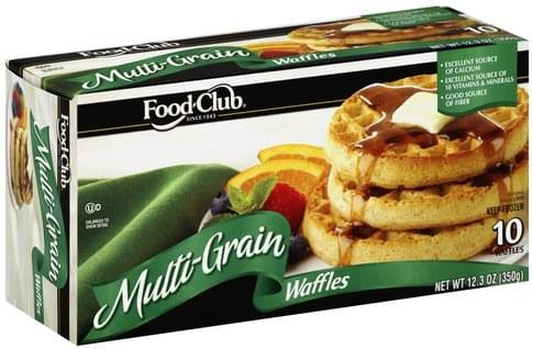 Food Club Multi-Grain Waffles - 10 ea