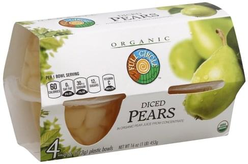 Full Circle Diced Pears - 4 ea