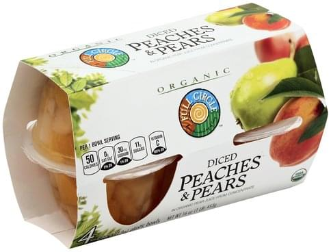 Full Circle Diced Peaches & Pears - 4 ea