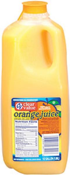 Clear Value Orange Juice 100% Pure Pasteurized