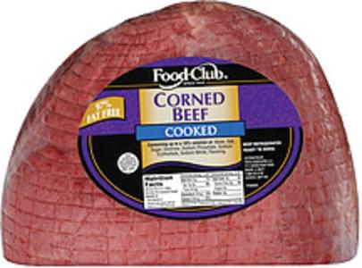Food Club Corned Beef Cooked 97% Fat Free