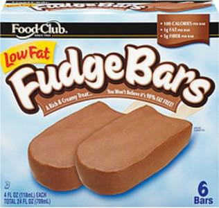 Food Club Fudge Bars Chocolate Low Fat 4oz