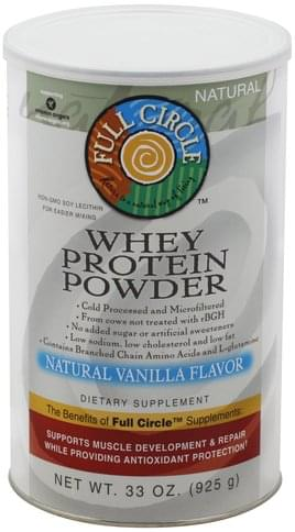 Full Circle Natural Vanilla Flavor Whey Protein Powder - 33