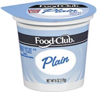 Food Club Yogurt Nonfat Plain