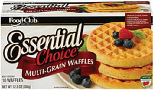 Food Club Waffles Essential Choice Multi-Grain 12.3 Oz