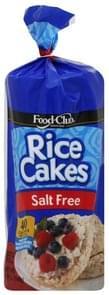 Food Club Rice Cakes Salt Free