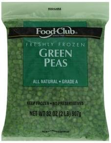 Food Club Green Peas Freshly Frozen