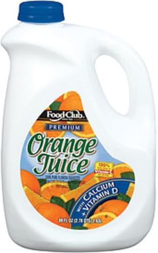 Food Club Premium W/Calcium + Vitamin D Orange Juice - 89 oz