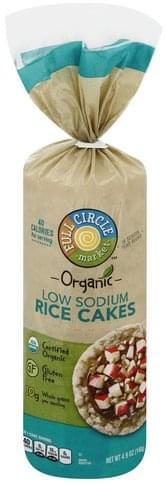 Full Circle Low Sodium Rice Cakes - 4.9 oz