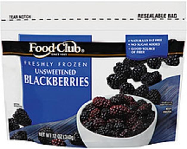 Food Club Unsweetened Blackberries - 12 oz