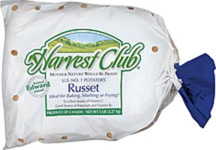 Harvest Club Potatoes Russet