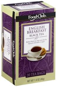 Food Club Black Tea English Breakfast, Bags