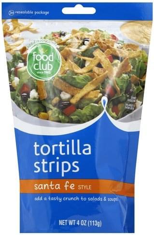 Food Club Santa Fe Style Tortilla Strips - 4 oz
