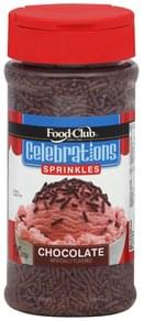 Food Club Sprinkles Chocolate