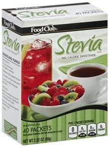 Food Club Stevia Extract Individual Packets