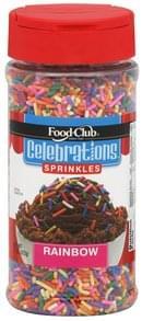 Food Club Sprinkles Rainbow