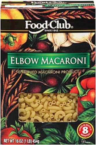 Food Club Elbow Macaroni - 16 oz