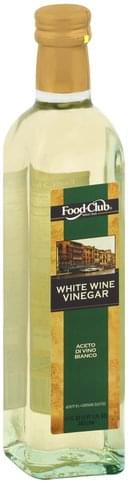 Food Club White Wine Vinegar - 17 oz