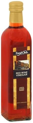 Food Club Red Wine Vinegar - 17 oz