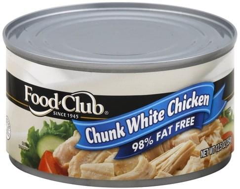 Food Club Chunk White, in Water Chicken - 12.5 oz