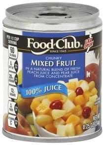Food Club Mixed Fruit Chunky, 100% Juice