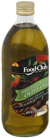Food Club 100% Extra Virgin Olive Oil - 34 oz