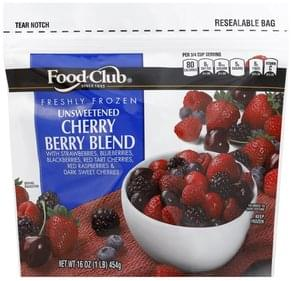 Food Club Cherry Berry Blend Freshly Frozen, Unsweetened