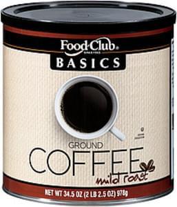 Food Club Coffee Mild Roast Ground