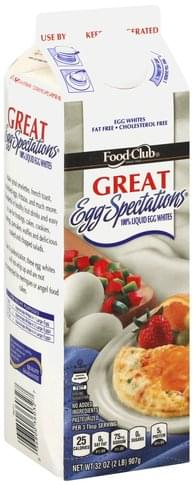 Food Club 100% Liquid Egg Whites - 32 oz