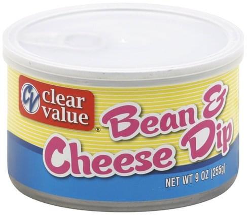 Clear Value Bean & Cheese Dip - 9 oz
