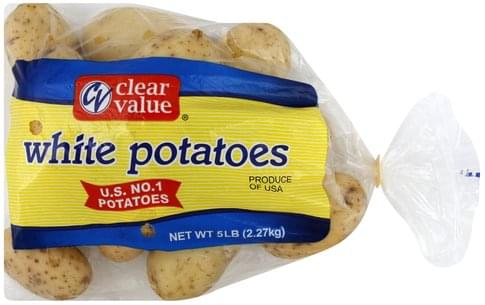 Clear Value White Potatoes - 5 lb