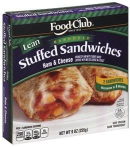 Food Club Stuffed Sandwiches Handheld, Lean, Ham & Cheese