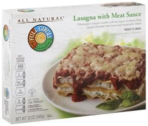 Full Circle Lasagna with Meat Sauce