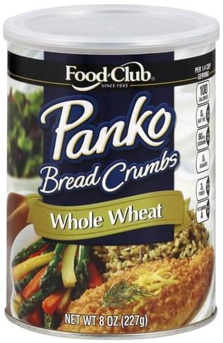 Food Club Panko, Whole Wheat Bread Crumbs - 8 oz