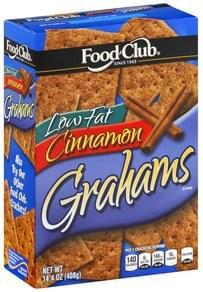 Food Club Grahams Low Fat, Cinnamon