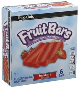 Food Club Fruit Bars Strawberry