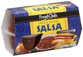 Food Club Salsa Thick & Chunky, Medium, Restaurant Style