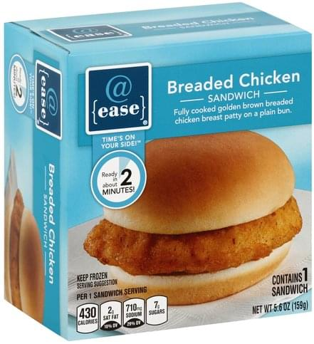 @ease Breaded Chicken Sandwich - 1 ea