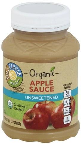 Full Circle Unsweetened Applesauce - 23 oz