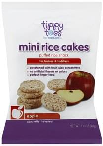 Tippy Toes Rice Cakes Apple, Mini