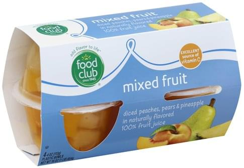 Food Club Mixed Fruit - 4 ea