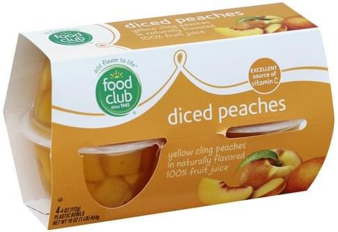 Food Club Diced Peaches - 4 ea
