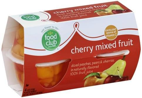 Food Club Cherry Mixed Fruit - 4 ea