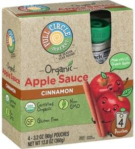 Full Circle Market Apple Sauce Organic, Cinnamon