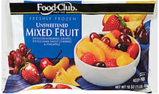 Food Club Mixed Fruit Unsweetened
