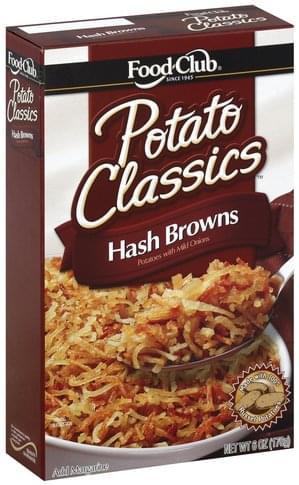 Food Club Hash Browns Potato Classics - 6 oz