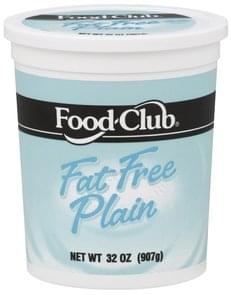 Food Club Yogurt Nonfat, Fat Free Plain