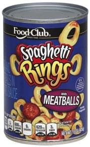 Food Club Spaghetti Rings With Meatballs